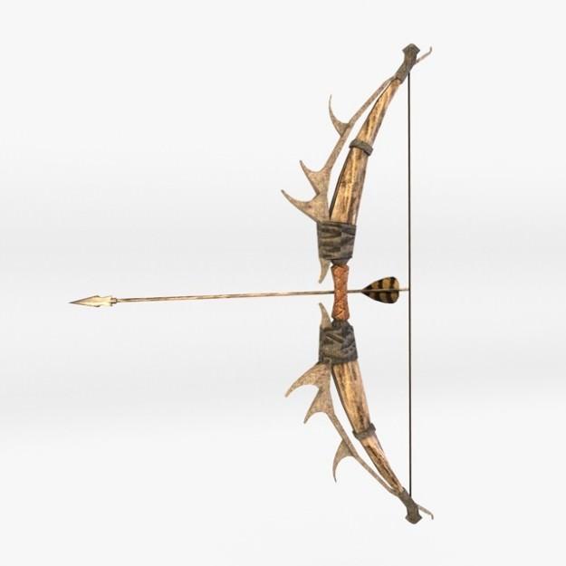 Fantasy Bow And Arrow 3d Model Max Obj 3ds Fbx C4d