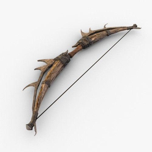 Fantasy Bow and Arrow 3D Model .max .obj .3ds .fbx .c4d ...