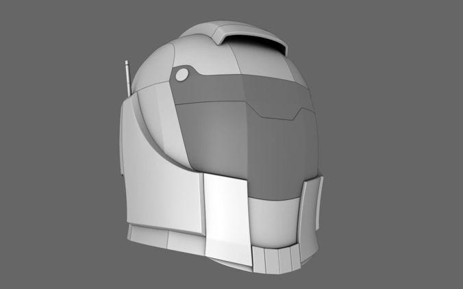 Halo Sci Fi Helmet 013D model