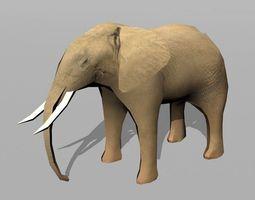 elephant 3d model low-poly
