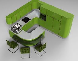 Kitchen MODERNA 3D