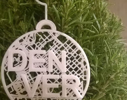 027b - Ornament - Denver Map - 3D printable model