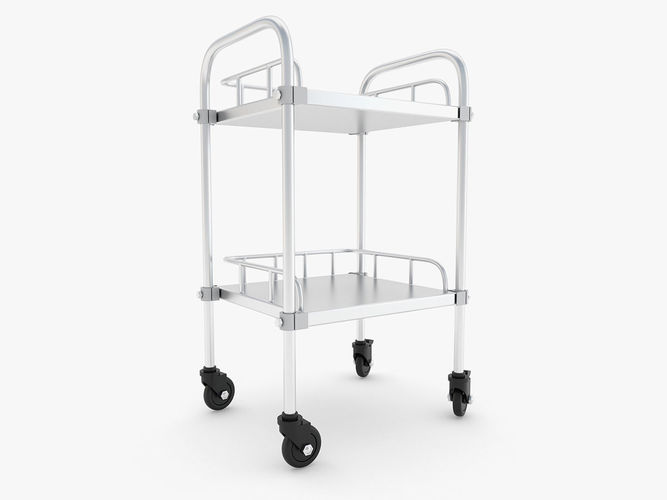 medical - trolley 3d model max obj mtl 3ds fbx c4d ma mb 1