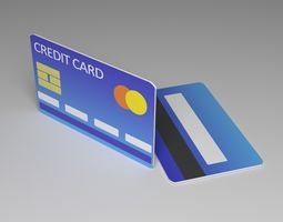 3D model low-poly Credit Card