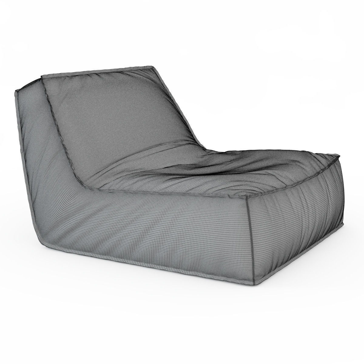 zoe low lounge chair 3d model max