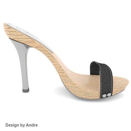 Woman Shoes Ramarim 3D Model MAX OBJ FBX MAT