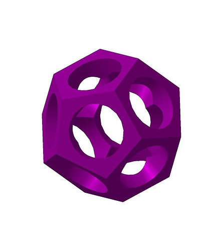 dodecahedron 3d model stl 1