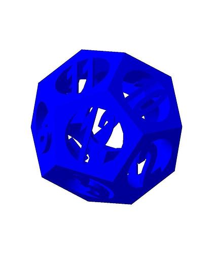 dodecahedron2 3d model stl 1