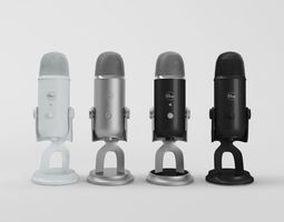 3D model game-ready Blue Yeti Collection