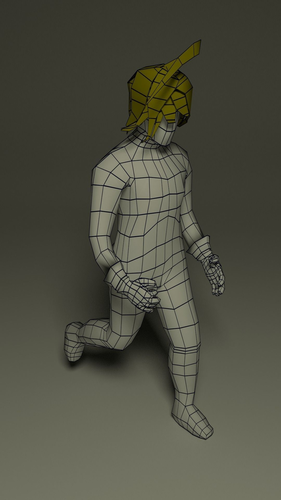 Fantasy male character3D model