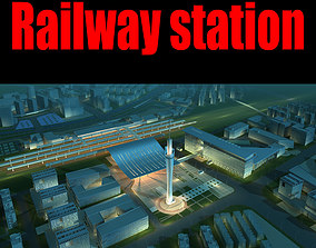 3D model Railway station