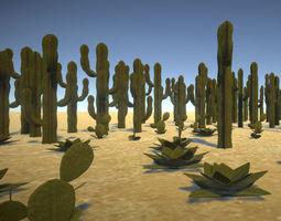 Desert Vegetation Cactus Package 3D model