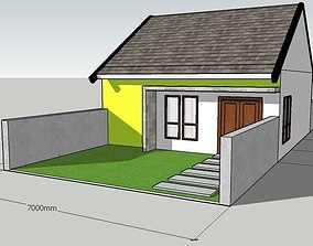 Indonesia Type 45 House indonesia 3D