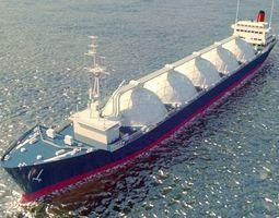 Oil Tanker 3d model Vray Corona renderer