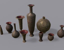 3D asset game-ready Vases PBR - Vol 1