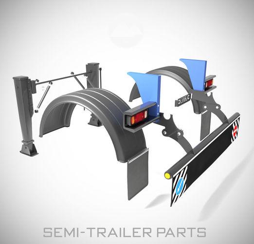 semi-trailer parts 3d model max obj mtl fbx 1