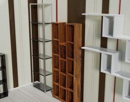 3D asset low-poly collection shelf