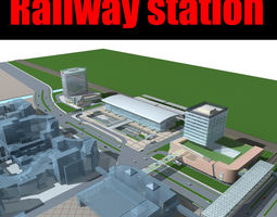 3d model railway station 016