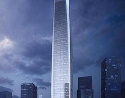 Skyscraper Business Center tile 3D