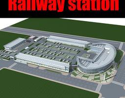 3d railway station 017