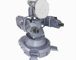 Sci-fi antiaircraft laser turret 3D