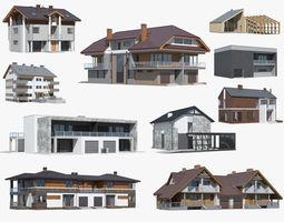 cottage collection 02 3d model