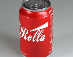 game-ready Soda Can VR AR low-poly 3D model