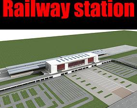 railway Railway station 3D