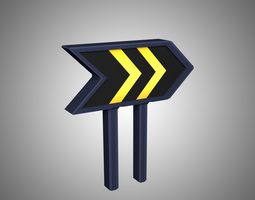 Forward Road Sign 3D model low-poly