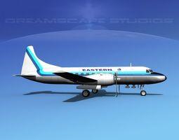 Convair CV-340 Eastern Airlines 3 3D model