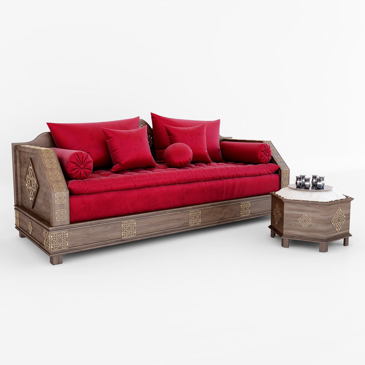 Moroccan Sofa Set Model Max Obj