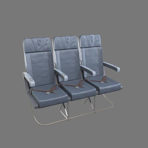 aircraft seat 3d model max obj mtl fbx 1