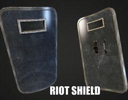 Riot Shield - Low Poly 3D Model