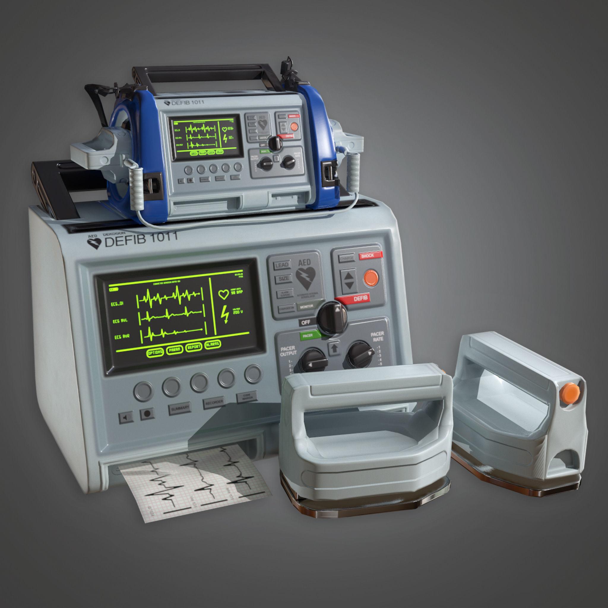 Medical Defibulator HPL - PBR Game Ready | 3D model