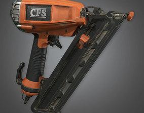 Nail Gun TLS - PBR Game Ready 3D model