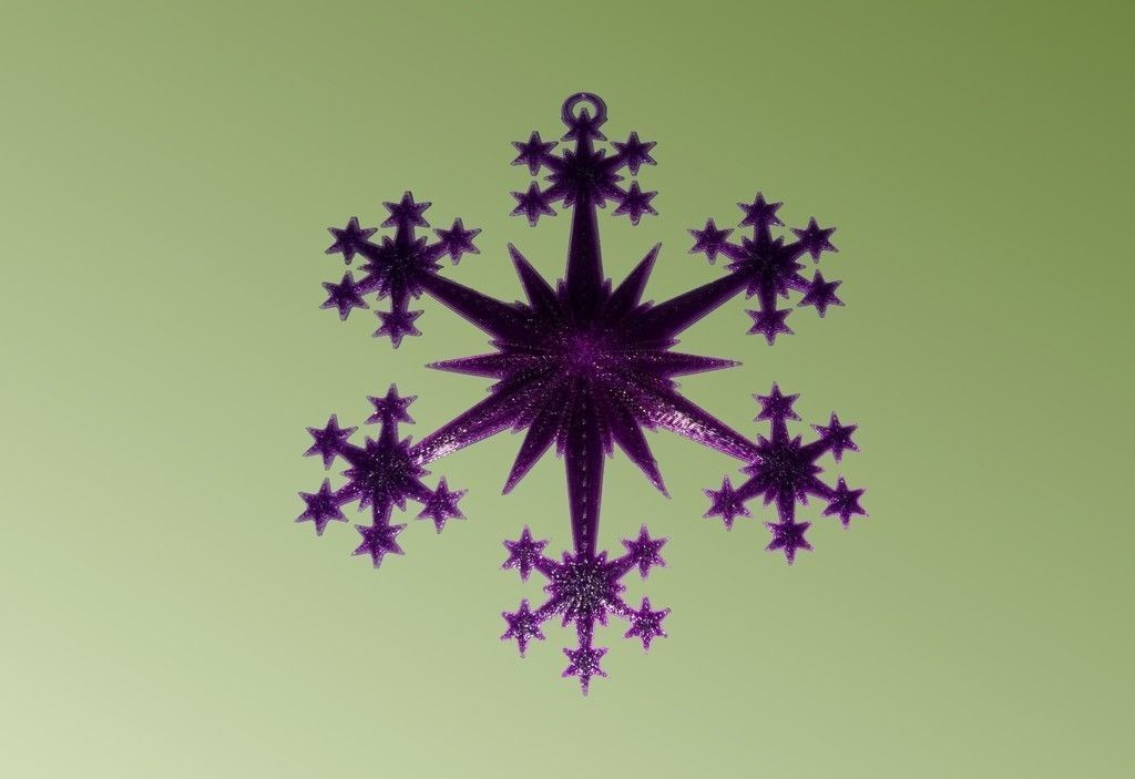 Star And Snowflake Star Ornament Free 3d Model 3d