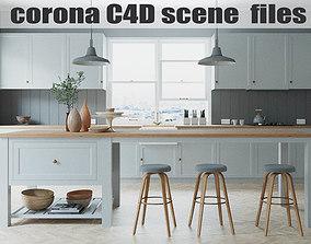 3D model Corona Cinema 4D Scene files - French Country