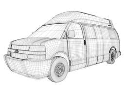 Chevy Avenue Van 3D