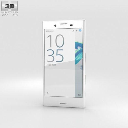 sony xperia x compact white 3d model max obj mtl 3ds fbx c4d lwo lw lws 1