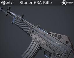 VR / AR ready PBR 3d model stoner 63a rifle