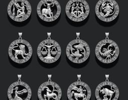 jewellery horoscope signes lite pack 3D print model