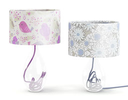 3D model Two Glass Table Lamps