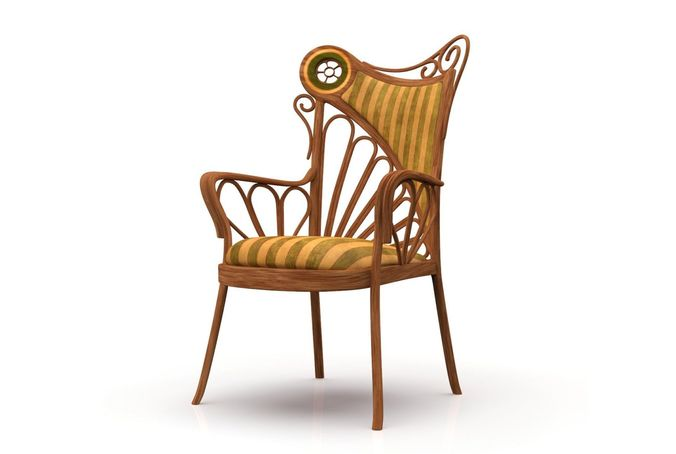 Art Nouveau Style Chair 3d Model Cgtrader