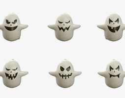 Cartoon ghost V2 3D model