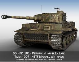 3D Panzer VI - Tiger - 007 - Late Production