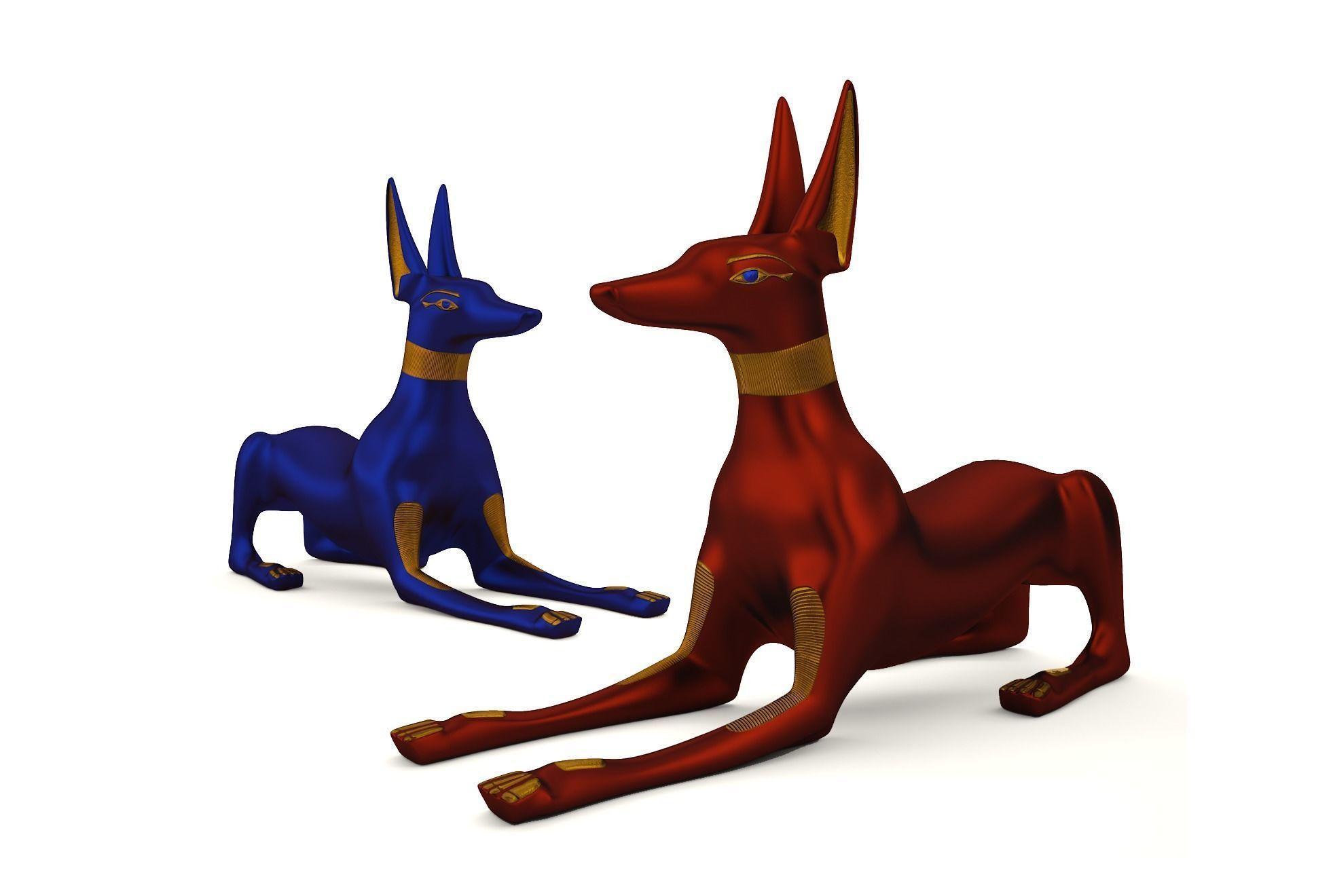 Egyptian Anubis Dog Sculpture | 3D model