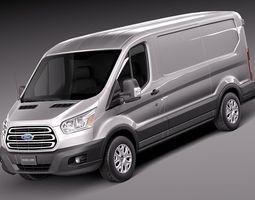 Ford Transit Short Low Van 2014 3D Model