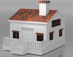 Simple House model 3D asset