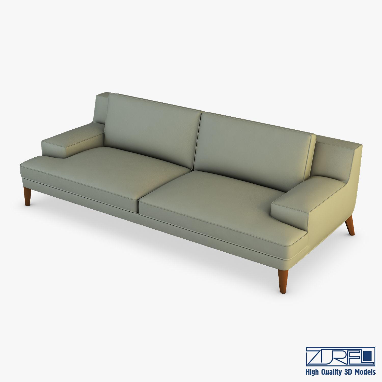 Roche Bobois Playlist Large 3 Seat Sofa   3D model