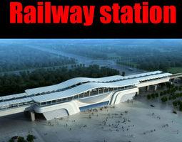 3d model railway station 025